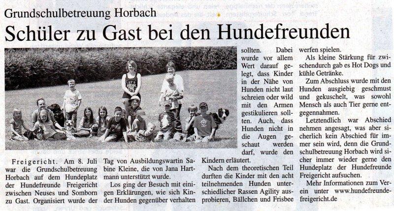 Grundschulbetreuung Horbach 2011
