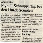 Flyball Schnuppertag 2011