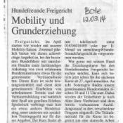 Mobility und Grunderziehung 2014